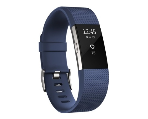 Fitness náramek Fitbit Charge 2 Blue Silver - Small