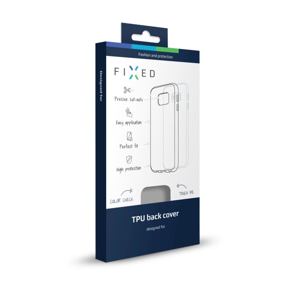 FIXED silikonové pouzdro pro Honor 7, bílé