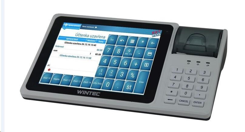 "WINTEC IDT800 EET pokladna 8"", tiskárna 57mm + prodejní software EET-POS"