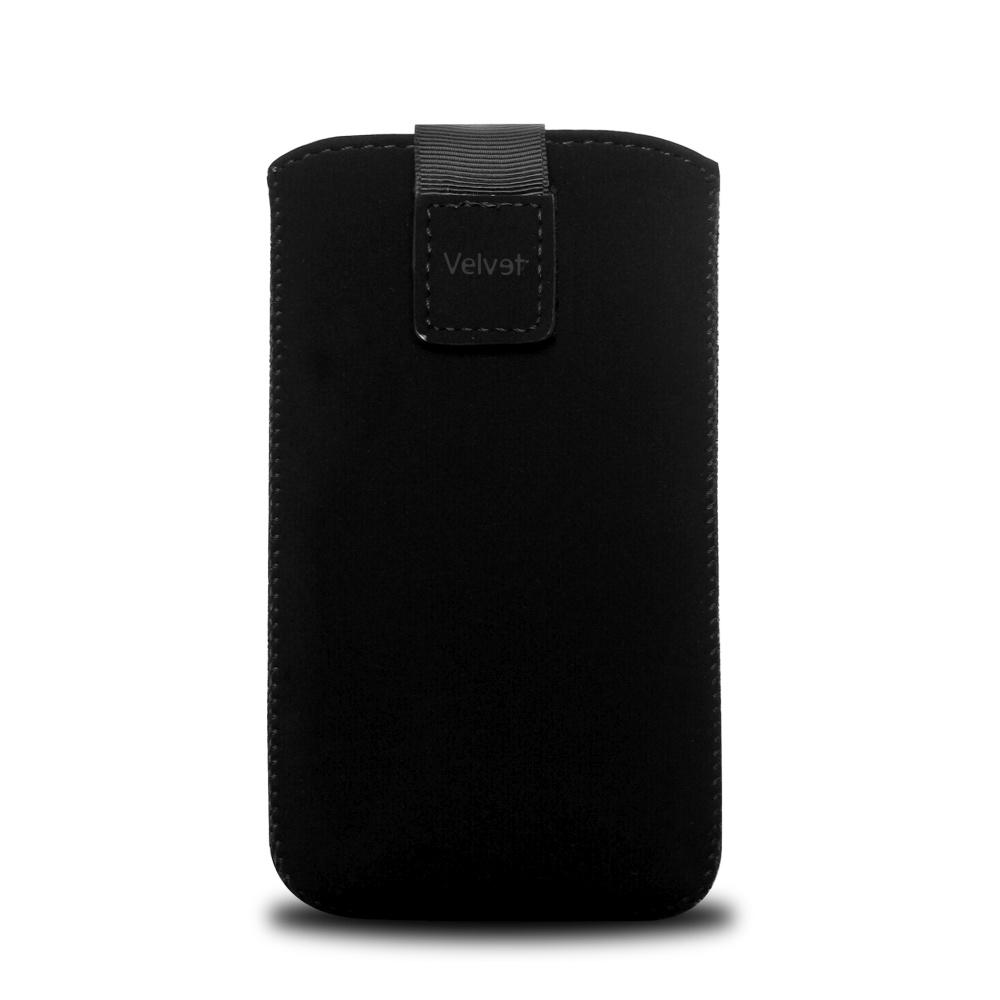 Univerzální pouzdro FIXED Velvet, mikroplyš, černé, velikost 5XL+