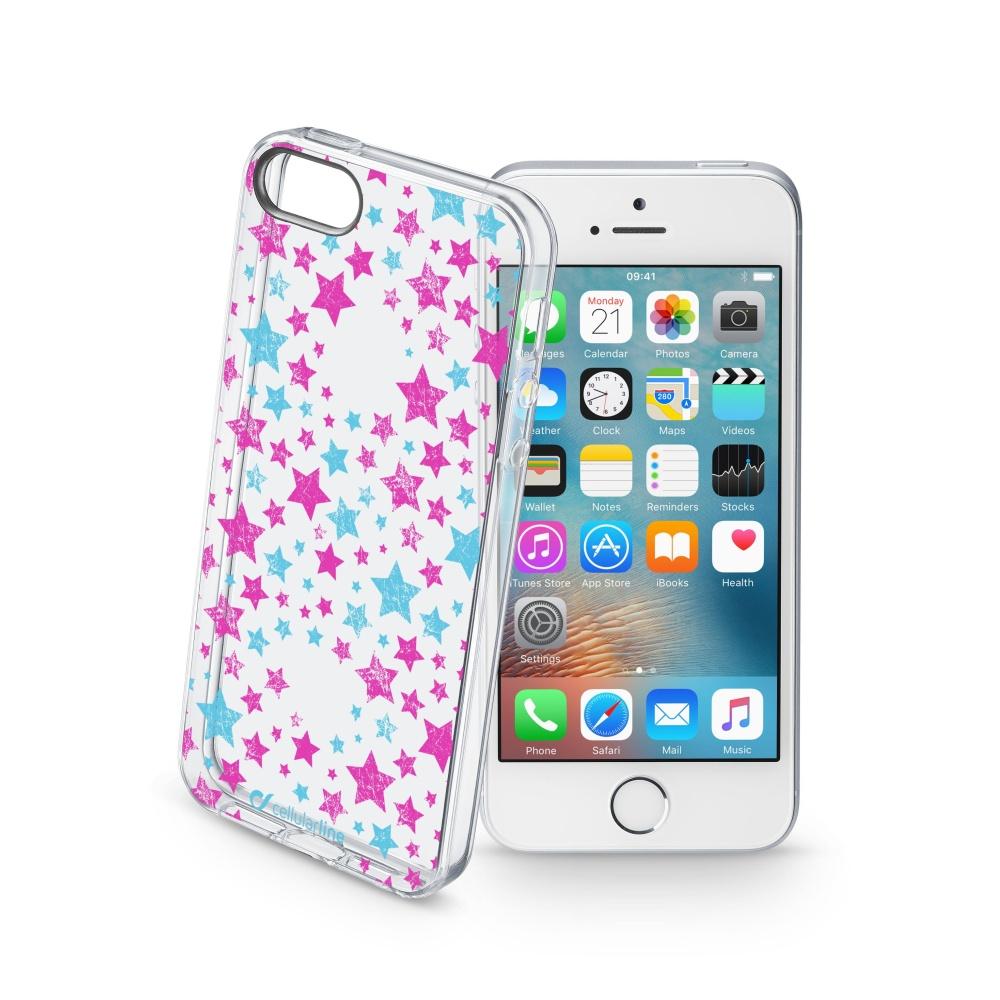 Pouzdro Cellularline STYLE pro Apple iPhone 5/5S/SE, motiv STARS
