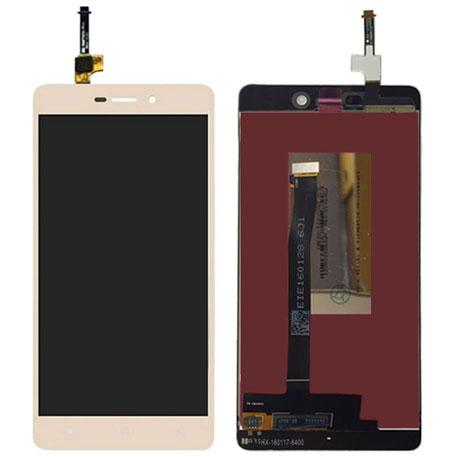 LCD Display + Dotyková Deska + Přední Kryt pro Xiaomi Redmi 3/3S Gold