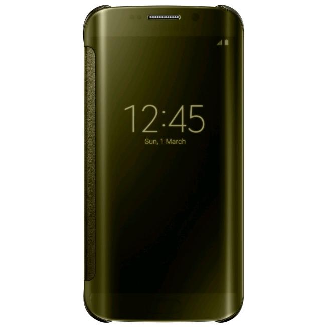 Samsung Clear View Pouzdro Gold pro Samsung Galaxy S6 Edge