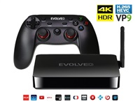 EVOLVEO Android Box H4 Plus s bezdrátovým gamepadem EVOLVEO Fighter F1