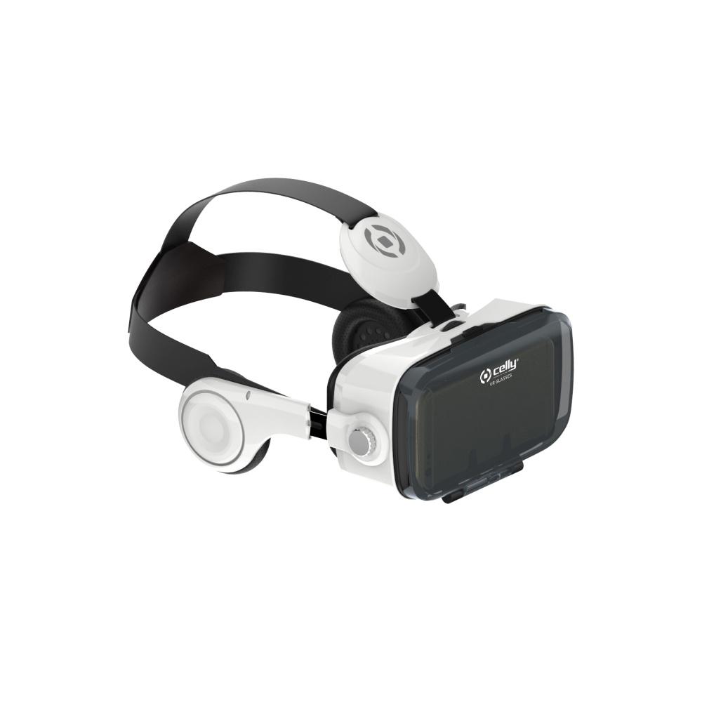 3D brýle pro virtuální realitu CELLY se sluchátky a ovládacími prvky, pro smartphony 4,7'' - 6,2''