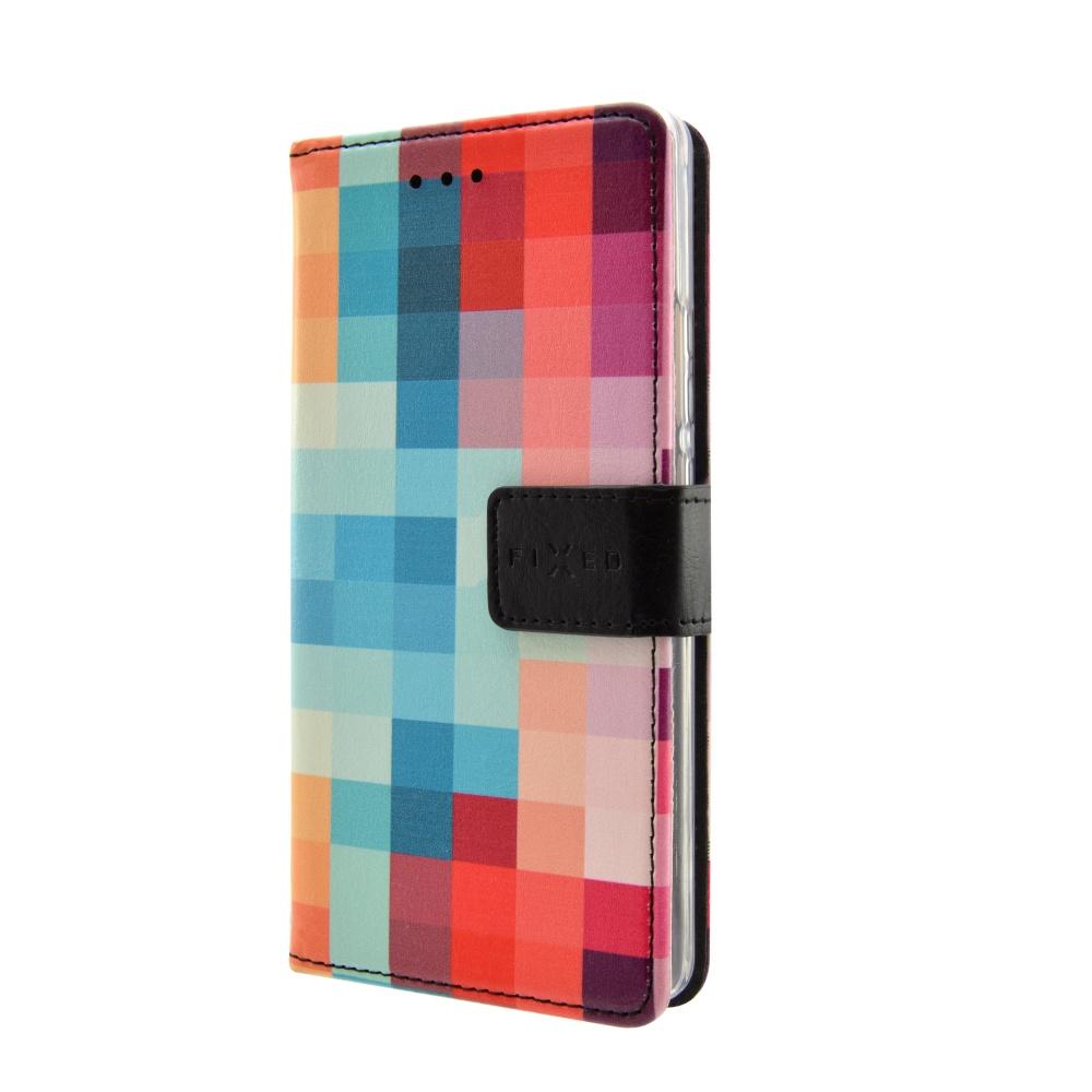 FIXED Opus flipové pouzdro HTC Desire 650 motiv kostky