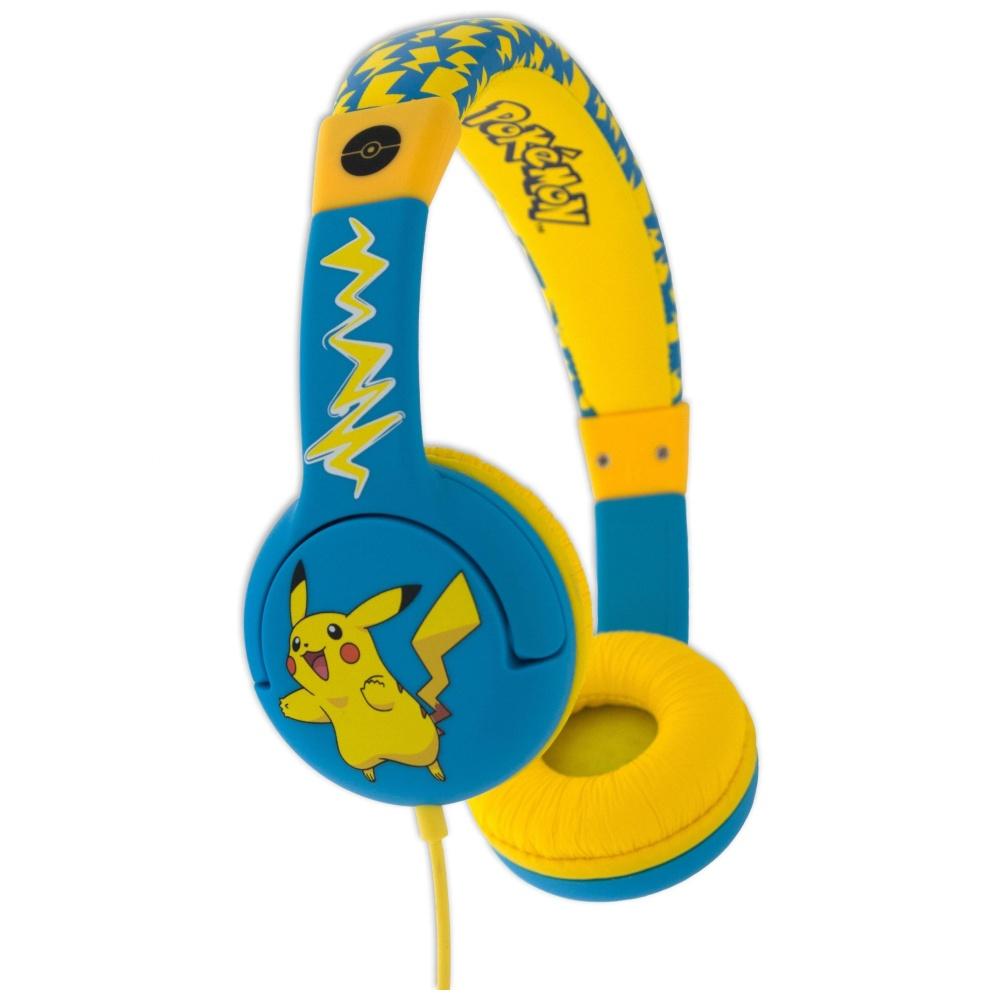 Dětská sluchátka POKEMON TEEN 3,5mm jack modro-žlutá