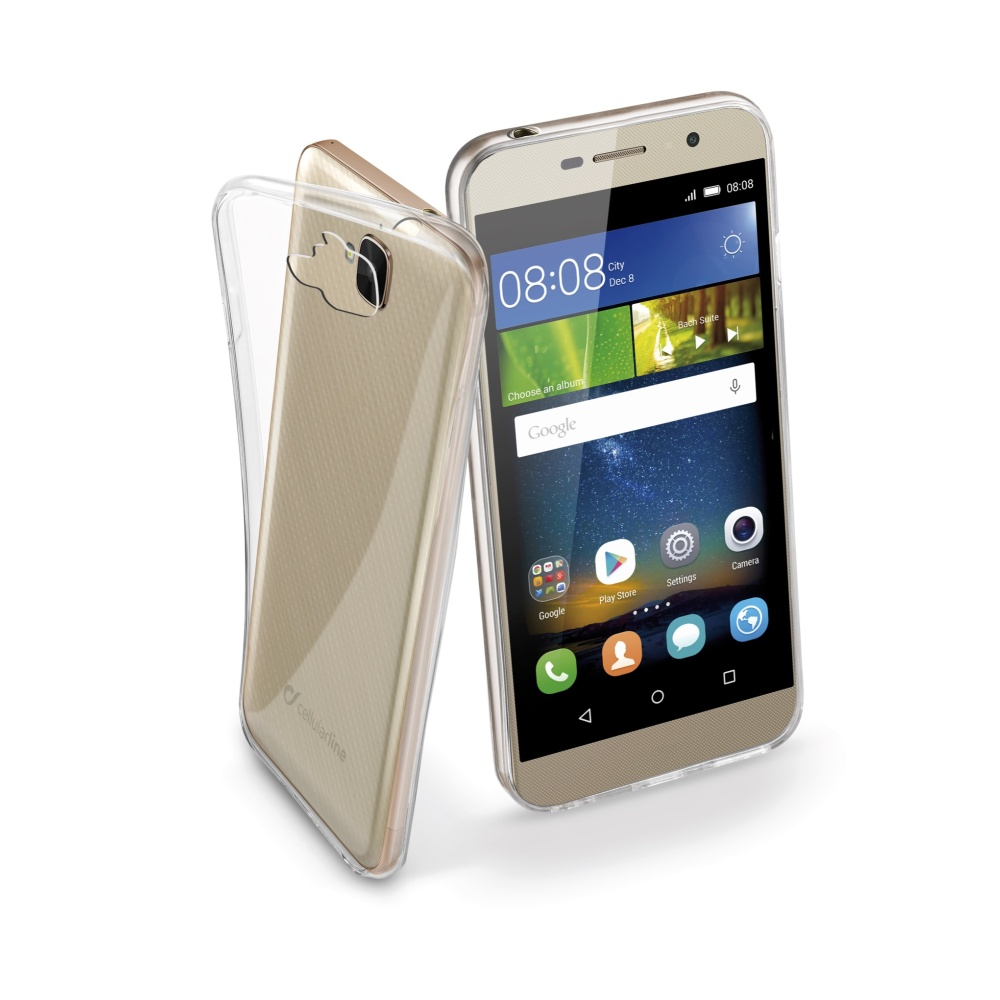 CellularLine Fine silikonové pouzdro Huawei Y6 PRO bezbarvé