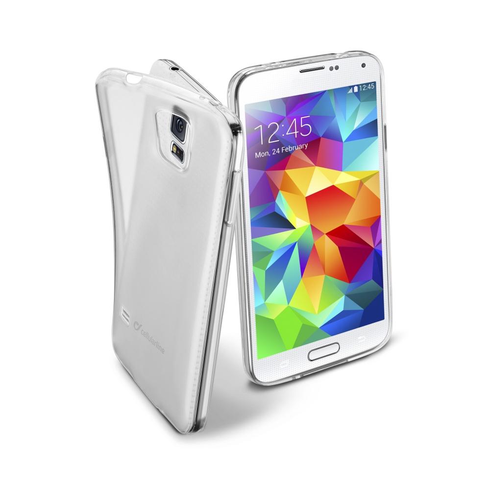 CellularLine Fine silikonové pouzdro Samsung Galaxy S5 bezbarvé