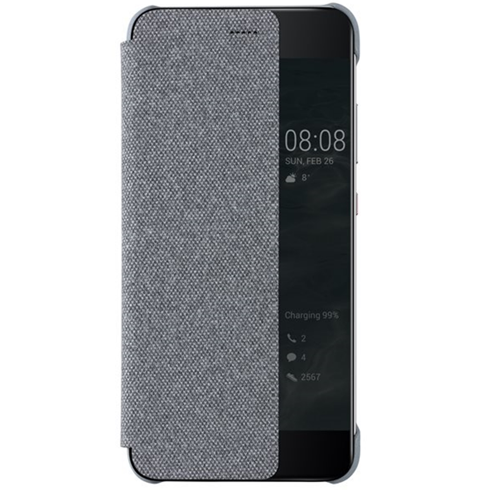 Huawei Original S-View flipové pouzdro Huawei P10 Light Grey