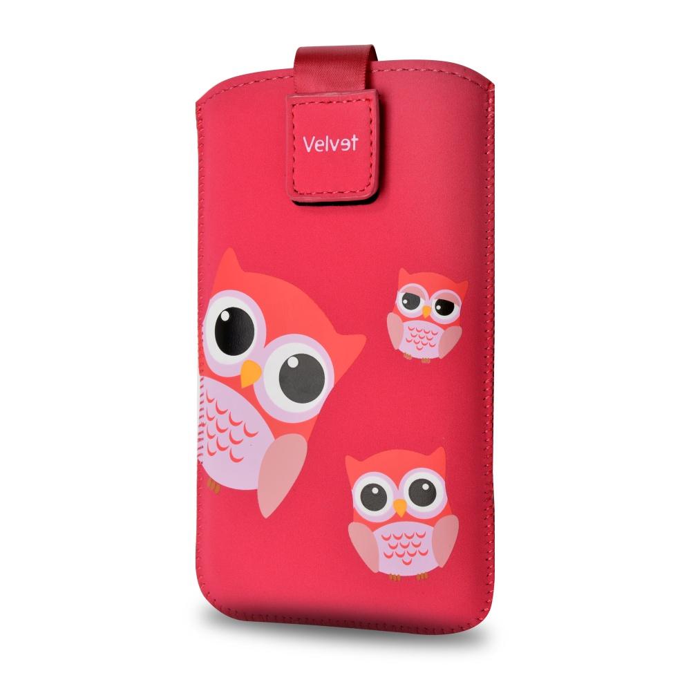 FIXED Velvet Univerzální pouzdro motiv Owlet velikost 5XL+