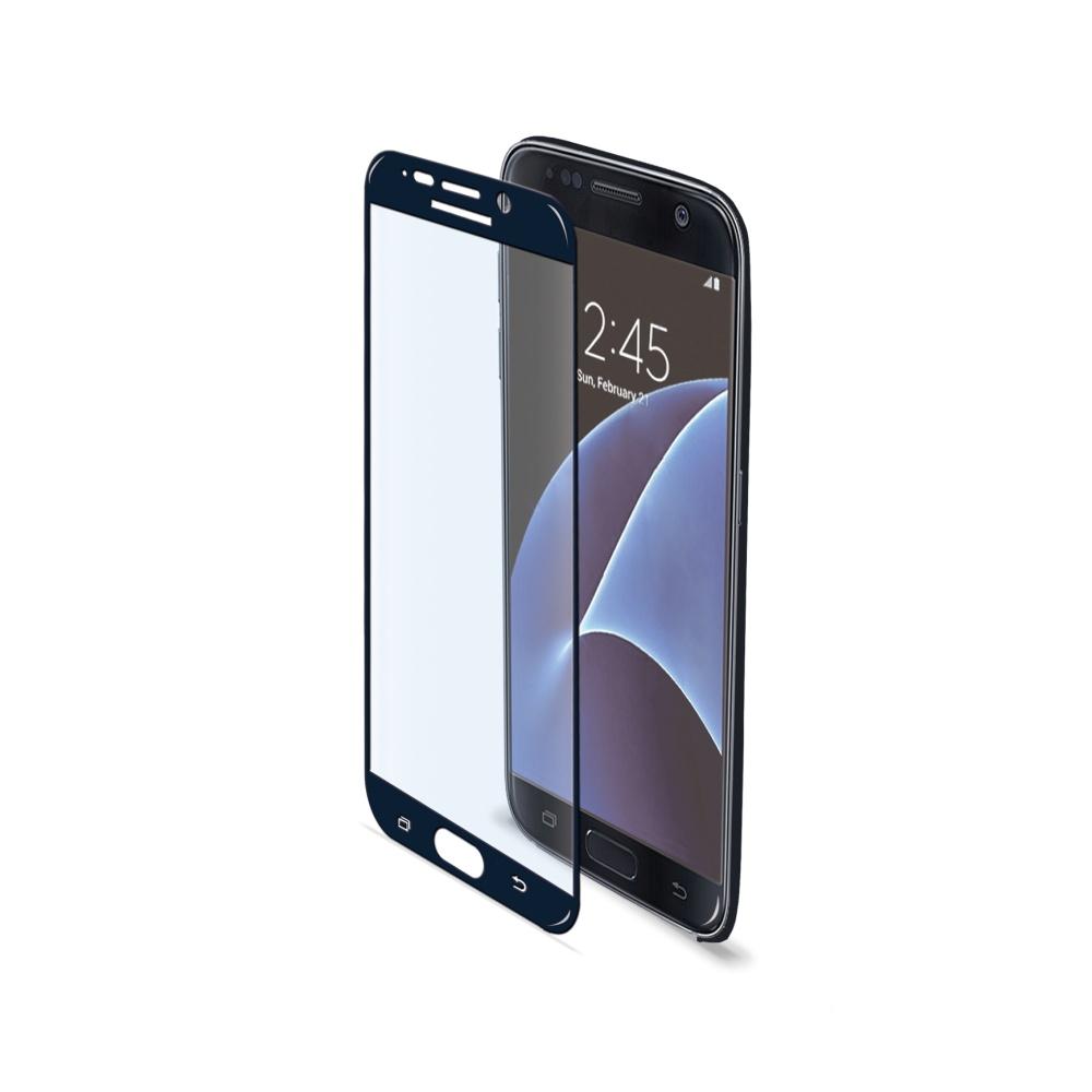 Ochranné tvrzené sklo CELLY Glass pro Samsung Galaxy S7, černé