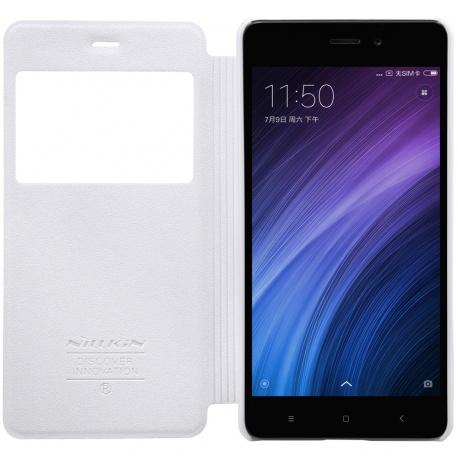 Nillkin Sparkle S-View pouzdro flip Xiaomi Redmi 4 PRO bílé