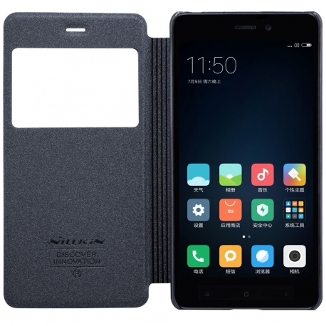 Nillkin Sparkle S-View pouzdro flip Xiaomi Redmi 4 PRO černé