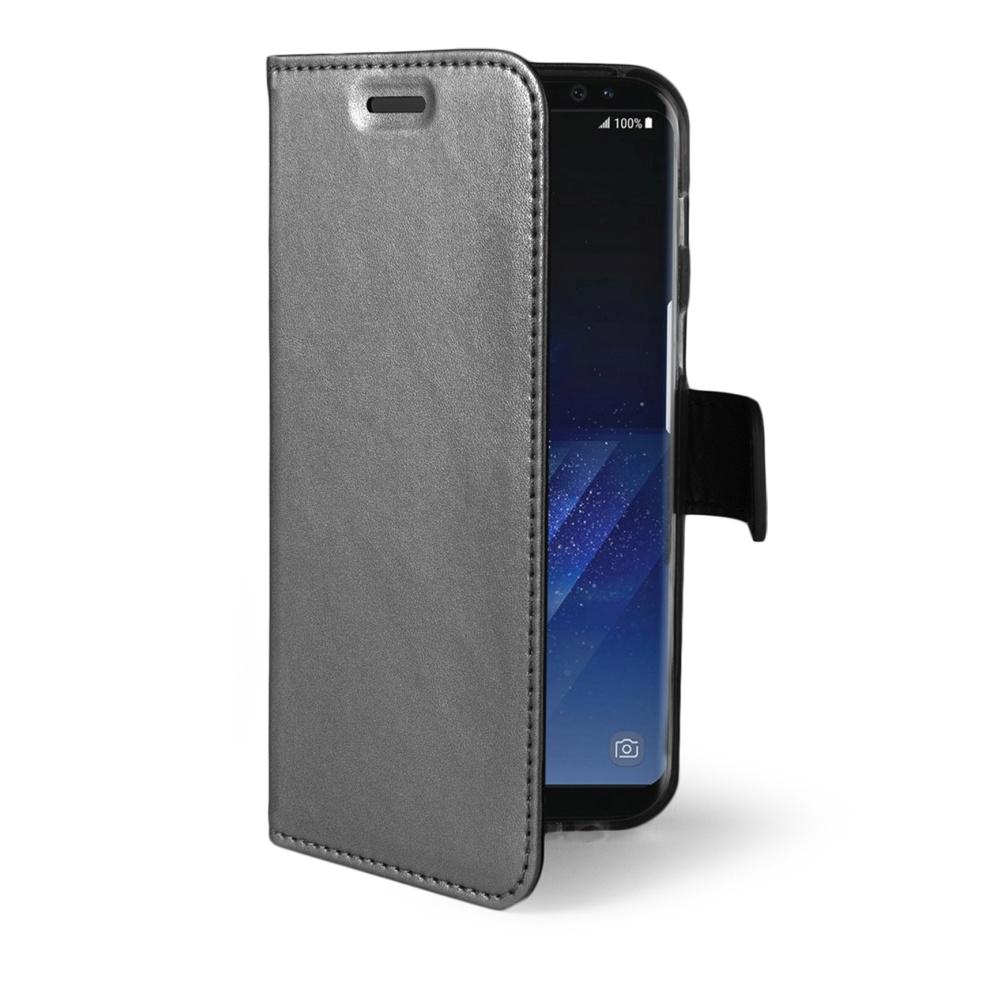 CELLY Air Ultra tenké flipové pouzdro Samsung Galaxy S8 Plus stříbrné