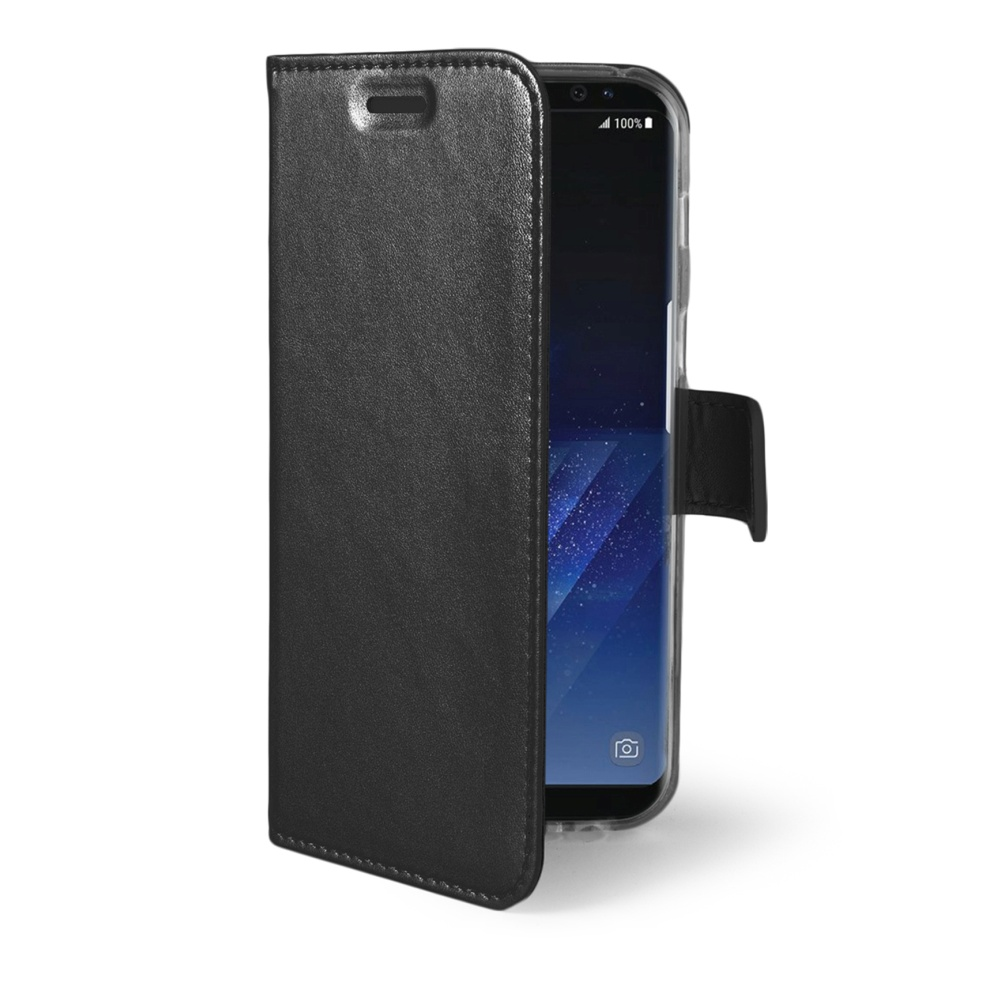 CELLY Air Ultra tenké flipové pouzdro Samsung Galaxy S8 Plus černé