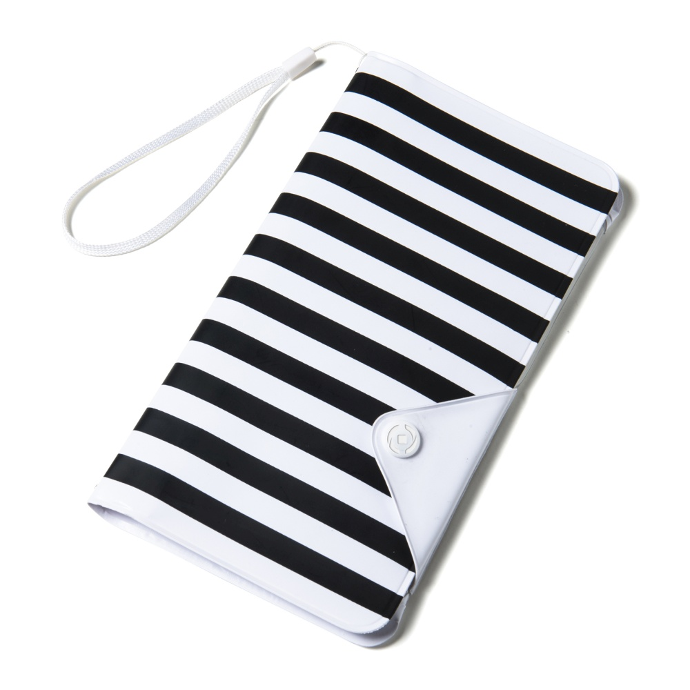 """CELLY Splash Wallet Univerzální pouzdro na telefony 5.7"""" černé pruhy"""