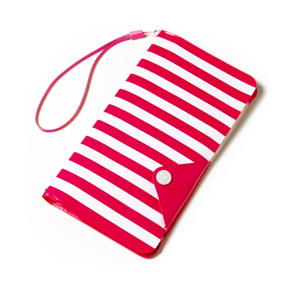 """CELLY Splash Wallet Univerzální pouzdro na telefony 5.7"""" červené pruhy"""