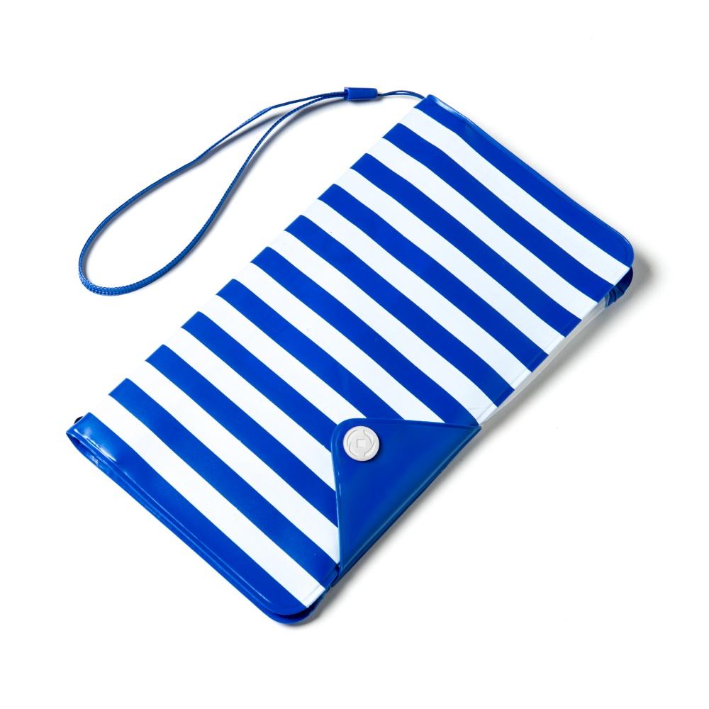 """CELLY Splash Wallet Univerzální pouzdro na telefony 5.7"""" modré pruhy"""