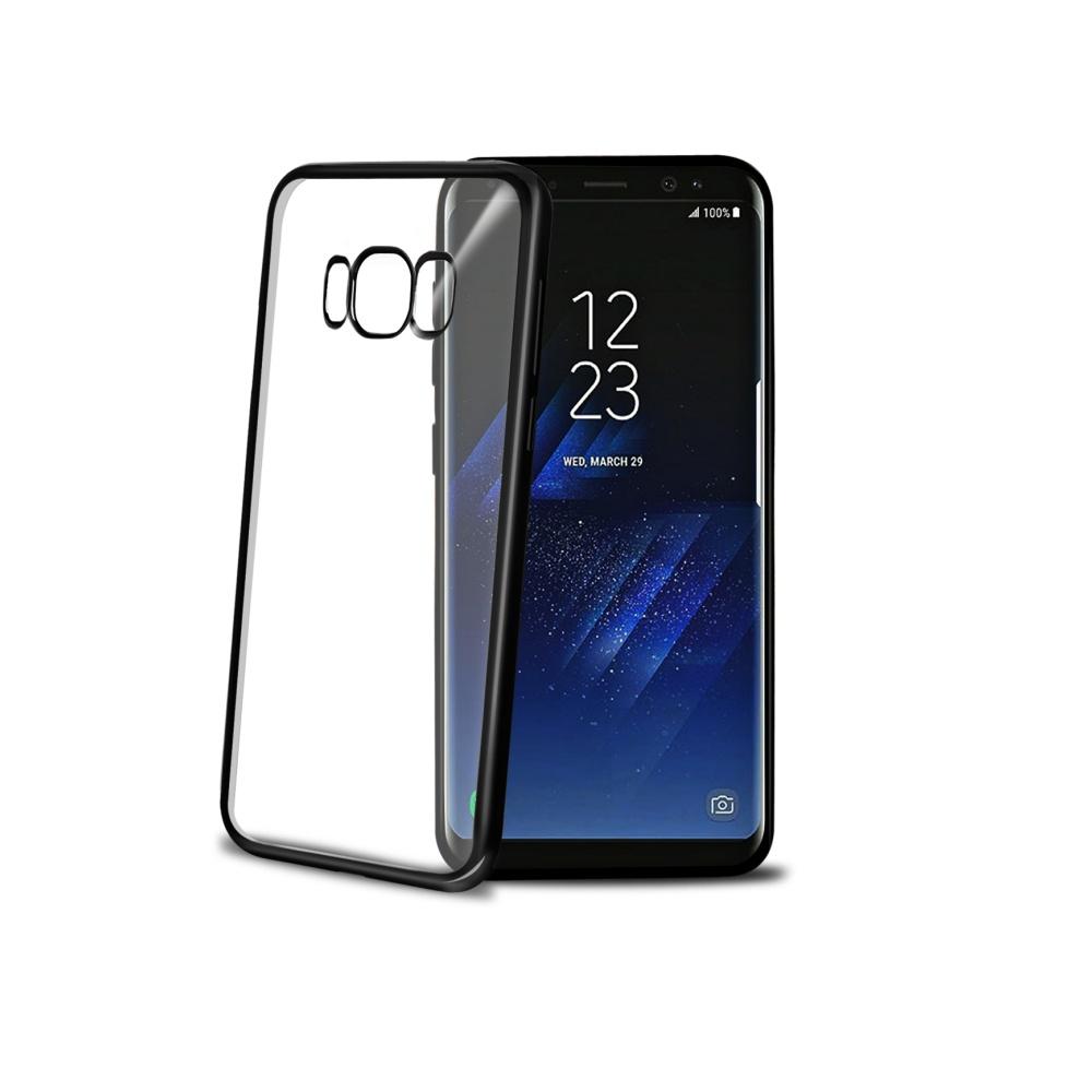 CELLY Laser silikonové pouzdro - lemování s kovovým efektem pro Samsung Galaxy S8 Plus, černé
