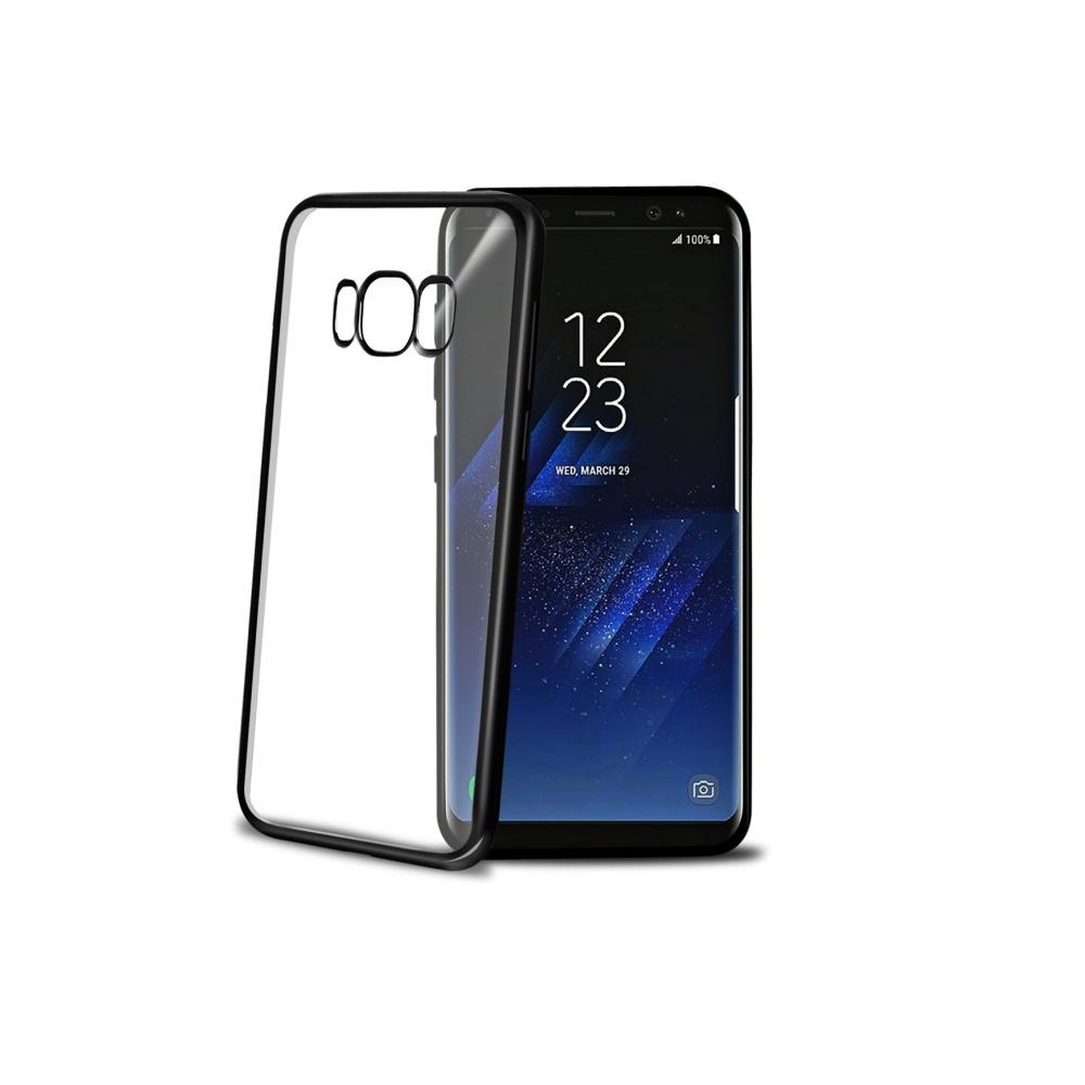 CELLY Laser silikonové pouzdro - lemování s kovovým efektem pro Samsung Galaxy S8, černé