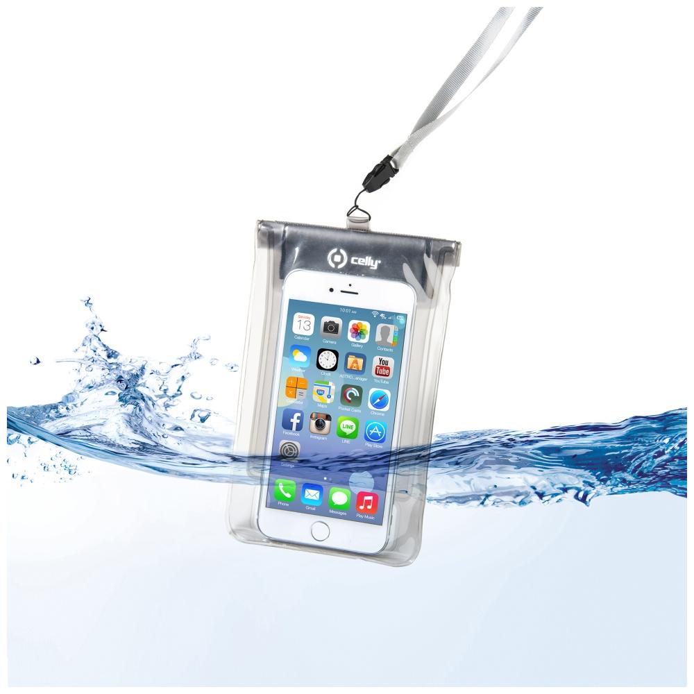 """CELLY Splash Bag Univerzální voděodolné pouzdro na telefony 5.7 """" bílé"""