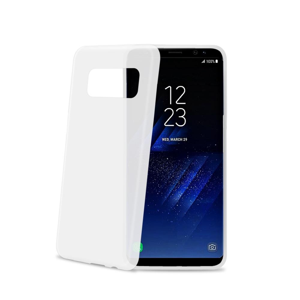Silikonové pouzdro CELLY Frost pro Samsung Galaxy S8 Plus, bílé