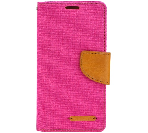 Canvas Diary pouzdro flip Huawei P9 Lite 2017 růžové/hnědé