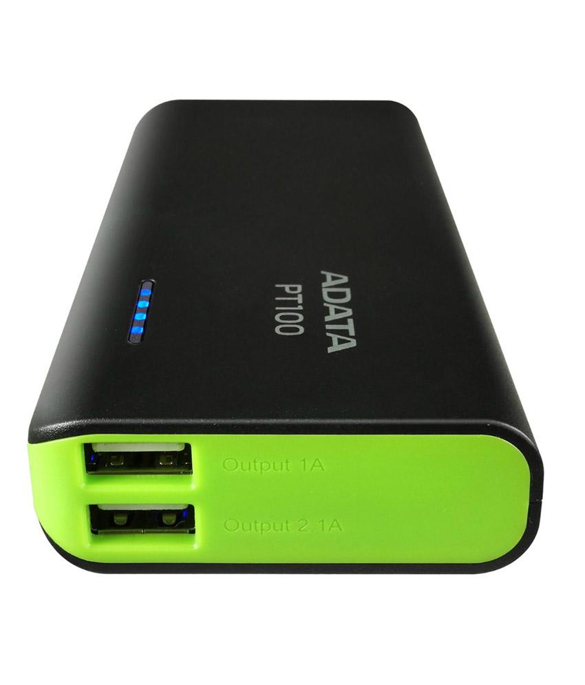 Power Banka ADATA PT100 10000mAh, black/green