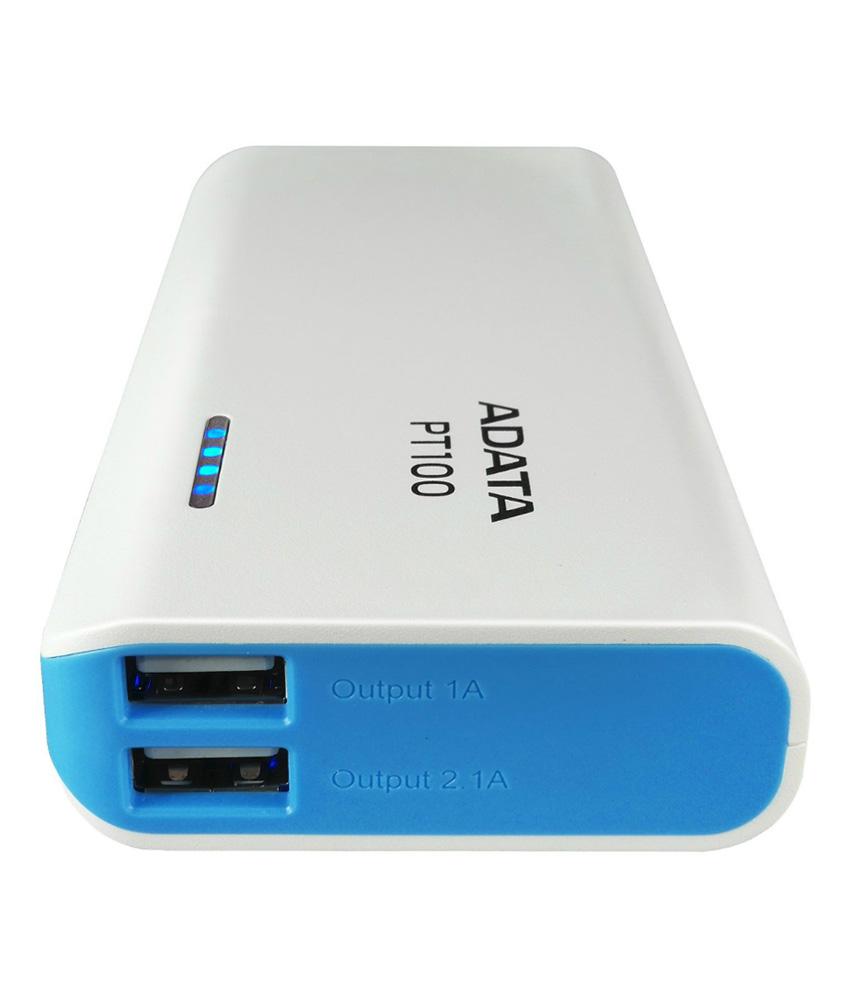 Power Banka ADATA PT100 10000mAh bílá/modrá