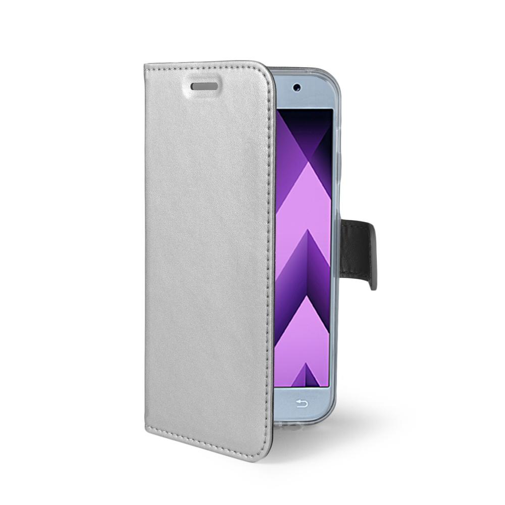CELLY Air Ultra tenké flipové pouzdro Samsung Galaxy A3 2017 stříbrné