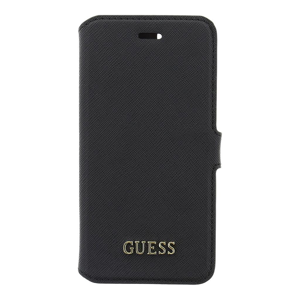 Guess Saffiano pouzdro flip GUFLBKP7TBK Apple iPhone 7 černé