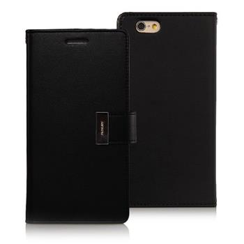 MERCURY RICH DIARY pouzdro flip Apple iPhone 6/6s černé