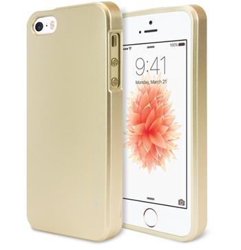 Silikonové pouzdro MERCURY iJELLY METAL HOLE pro Apple IPHONE 7, zlaté
