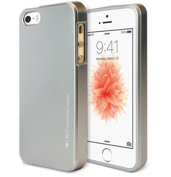 Silikonové pouzdro MERCURY iJELLY METAL HOLE pro Apple IPHONE 7, šedé