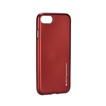 Silikonové pouzdro MERCURY iJELLY METAL HOLE pro Apple IPHONE 7, červené