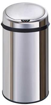 Atractiv bezdotykový odpadkový koš 42 L, nerezový, senzorový, kulatý