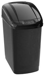 Economic bezdotykový odpadkový koš 27 L, plastový, senzorový, hranatý