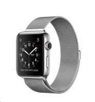Apple Watch Series 2, 38mm pouzdro z nerezové oceli + stříbrný Milánský řemínek