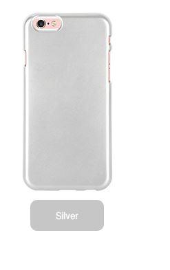 Silikonové pouzdro Mercury i-Jelly METAL pro Apple iPhone 6/6S, Silver