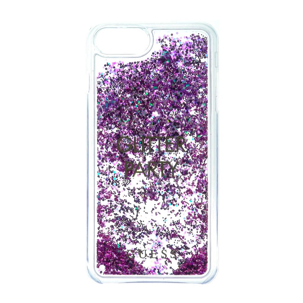 Pouzdro Guess Liquid Glitter Hard Party pro iPhone 7 Plus, purple