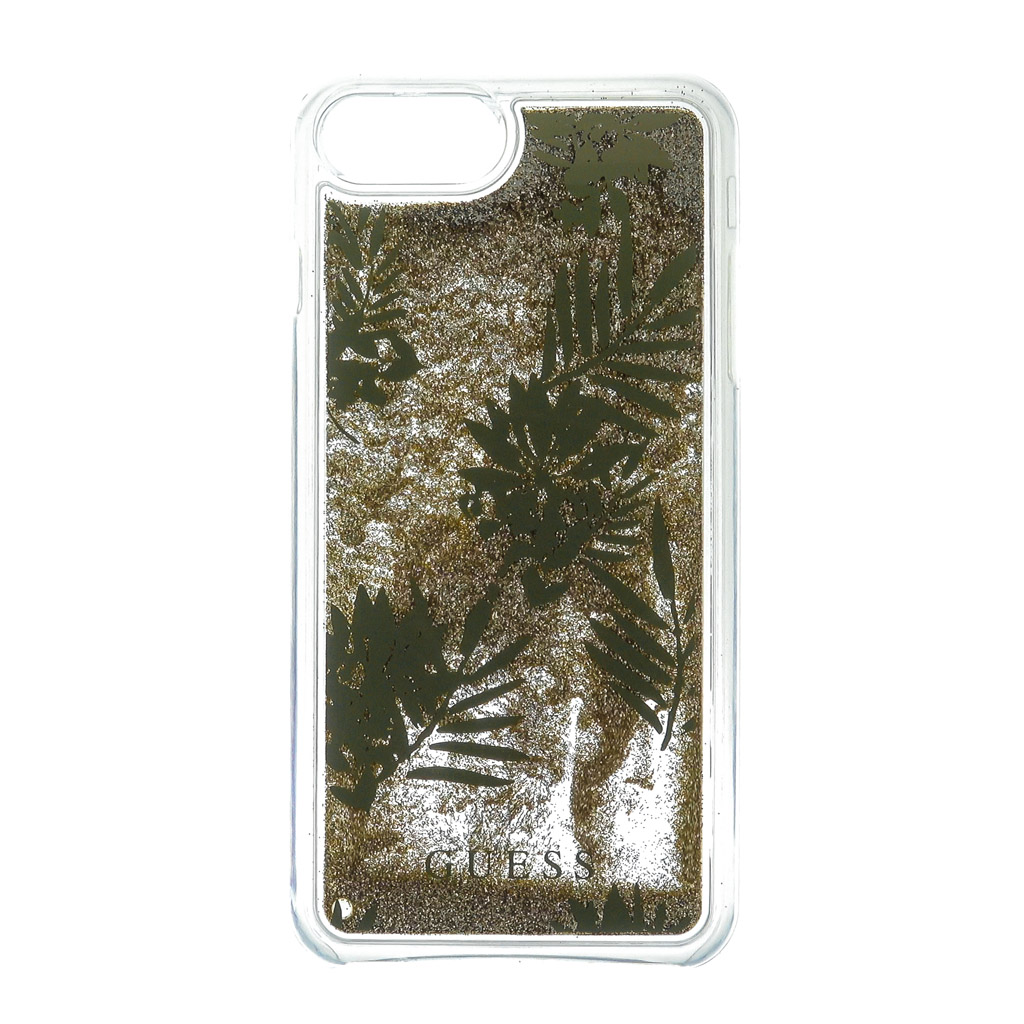 Pouzdro Guess Liquid Glitter Hard Palm Spring pro iPhone 6 Plus/6S Plus/7 Plus, gold