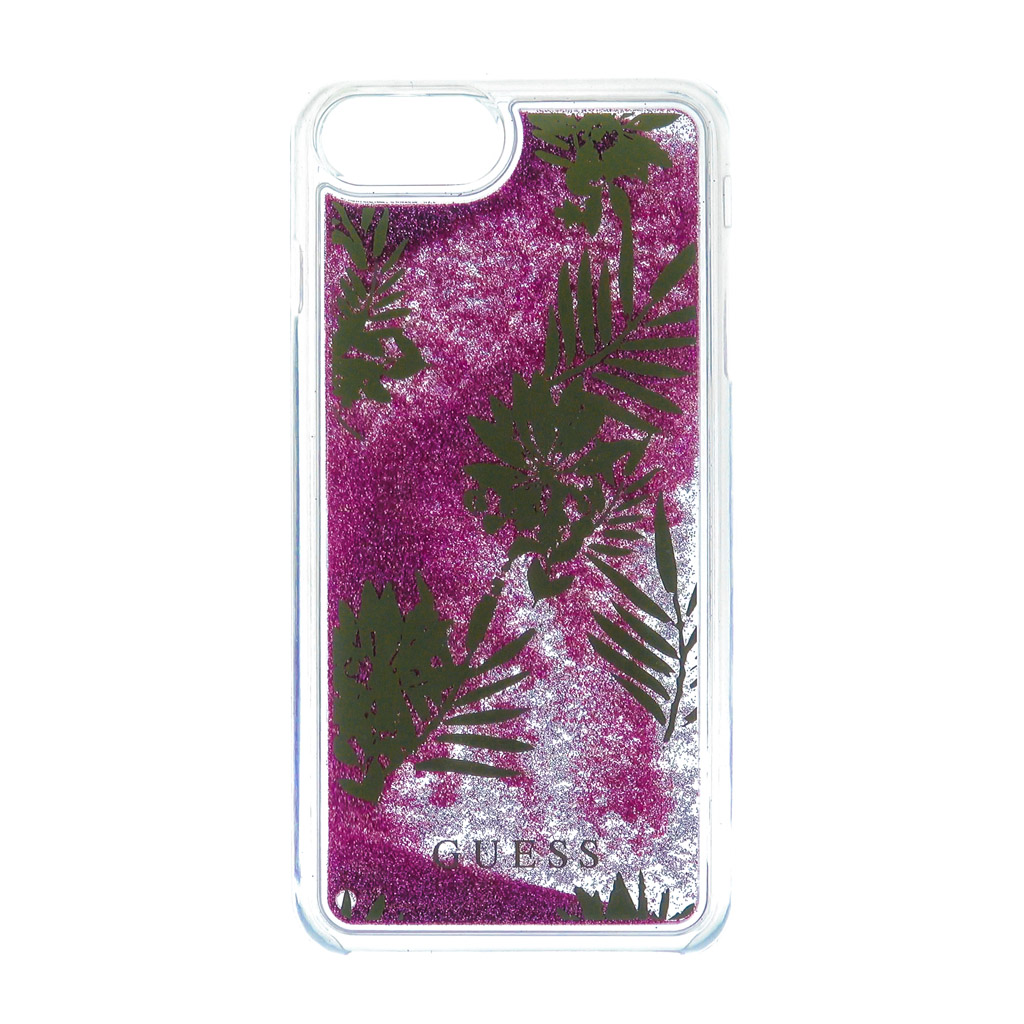 Pouzdro Guess Liquid Glitter Hard Palm Spring pro iPhone 7 Plus, Rose