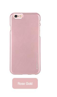 Silikonové pouzdro Mercury i-Jelly METAL pro Apple iPhone 6/6S Plus, Rose gold