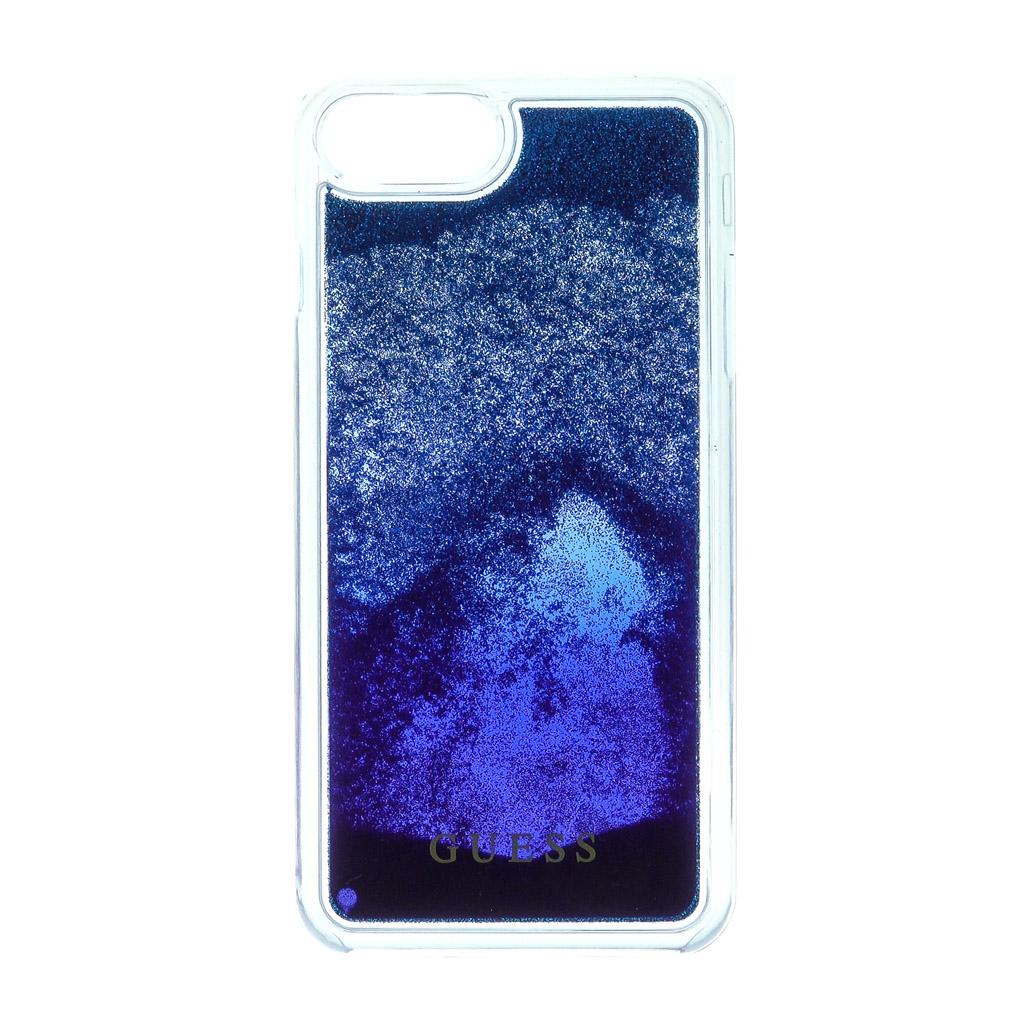 Pouzdro Guess Liquid Glitter Hard Degrade pro iPhone 7 Plus, blue