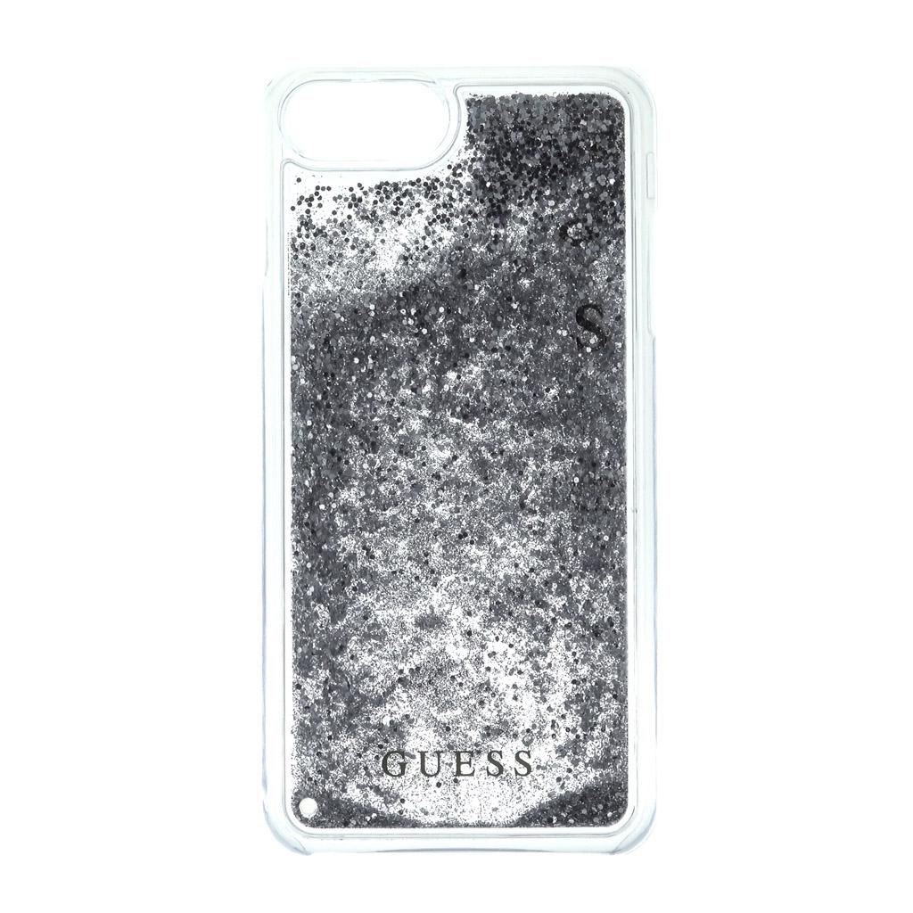 Pouzdro Guess Liquid Glitter Hard pro iPhone 7 Plus, silver