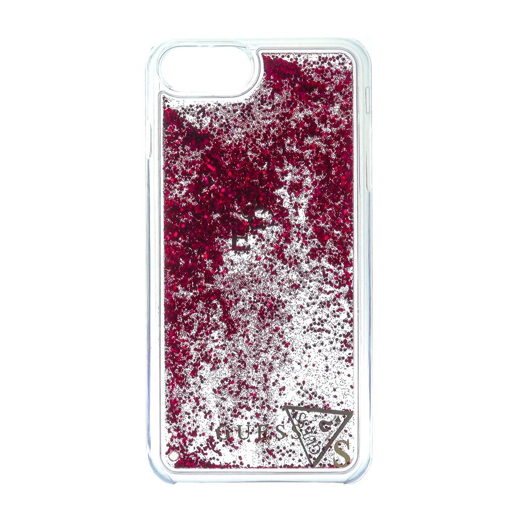 Pouzdro Guess Liquid Glitter Hard pro iPhone 6 plus/6S Plus/7 Plus, raspberry