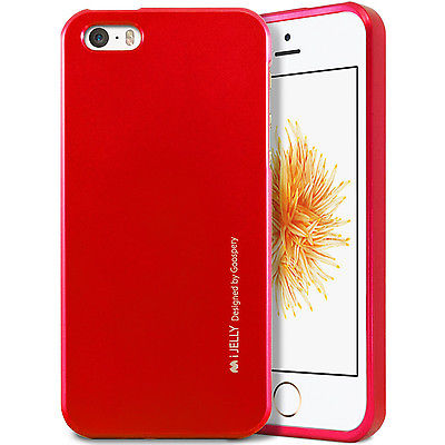 Silikonové pouzdro Mercury i-Jelly METAL pro Apple iPhone 6/6S Plus, Red