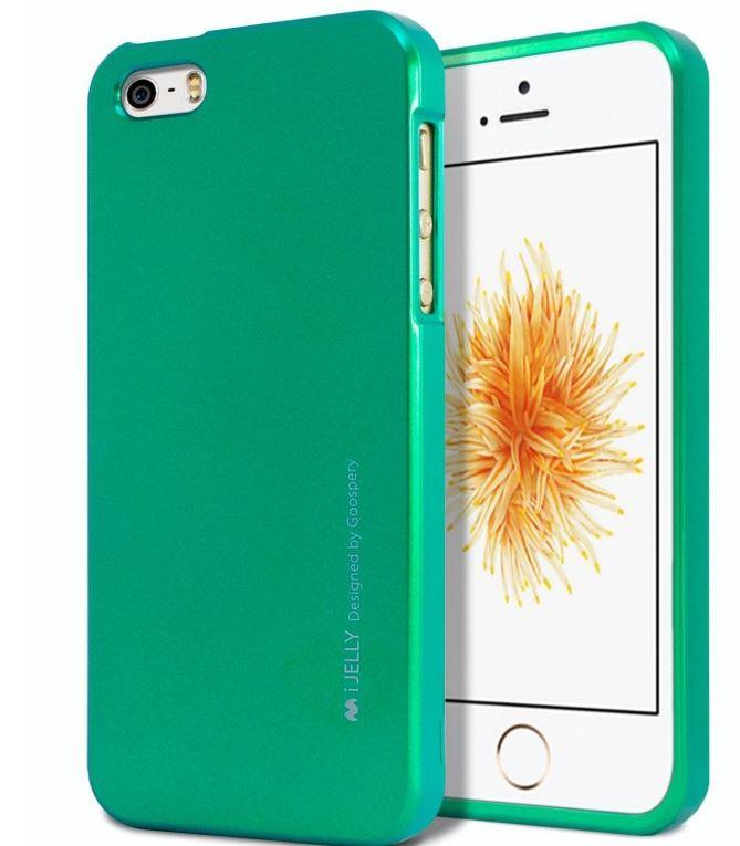 Silikonové pouzdro Mercury i-Jelly METAL pro Apple iPhone 6/6S Plus, Green