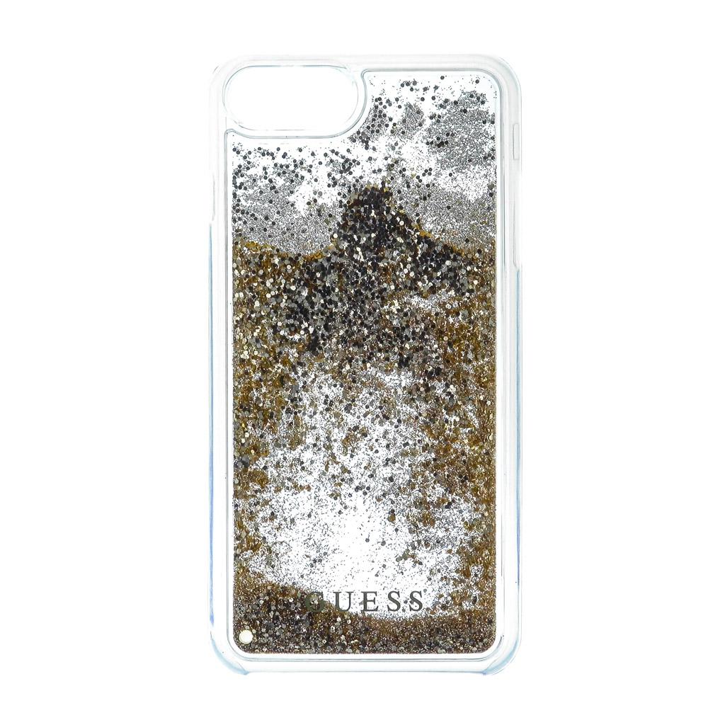 Pouzdro Guess Liquid Glitter Hard pro iPhone 7 Plus, gold